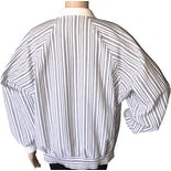 another view of 80's Gray Striped Jacket by Haberdashery Is Personal
