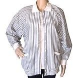 80's Gray Striped Jacket by Haberdashery Is Personal