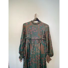 70's Sheer Glitter Sparkle Gown by Cardini