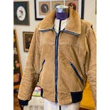 another view of 70's Camel Corduroy Bomber Jacket by CB Sports