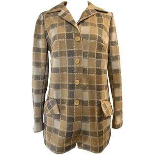 70's Classic Plaid Long Sleeve Button Down Jacket by Levoy's