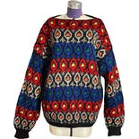 70's Colorful Chunky Knit Sweater
