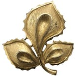 70's Gold Leaf Brooch by Monet
