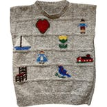 70's Hand Knit Novelty Sweater Vest