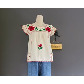 70's Handmade Embroidered Top