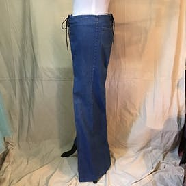 70's Lace Up Bell Bottom Jeans by Chemin De Fer