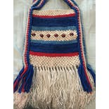 another view of 70's Macrame Fringe Beaded Purse