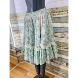 another view of 70's Pastel Floral Full Skirt by Malco Modes