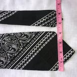 another view of 70's Bandana Print Textured Tie by Oleg Cassini