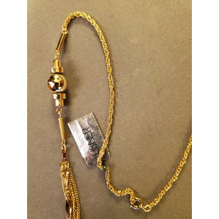 70's Goldtone Multistrand Necklaceby Lisner