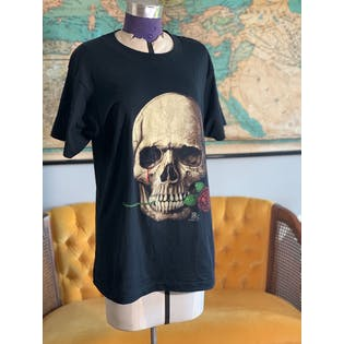 70's Rose Skull Tee by Screen Stars