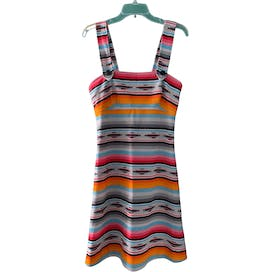 70's Sleeveless Printed Dress