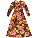 70's Warm Floral Print Maxi Dress by May Boutique