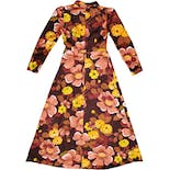another view of 70's Warm Floral Print Maxi Dress by May Boutique