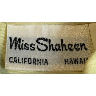 70's Yellow Floral Sheer Sleeve Blouse by Miss Shaheen Hawaii