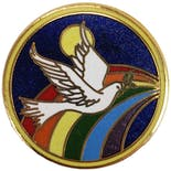 70's/80's Rainbow Dove Pin