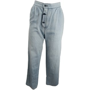 70's/80's Chambray Pants with Zip Flyby Rumble Seats