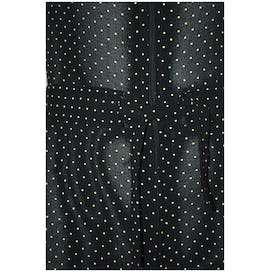 70's Black Halter Jumpsuit with White Polka Dots