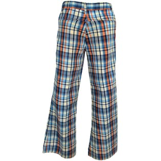 70's Blue Plaided Bell Bottoms by Garanimals