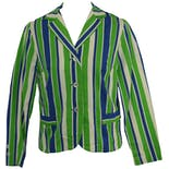 70's Blue and Green Striped Blazer