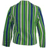 another view of 70's Blue and Green Striped Blazer
