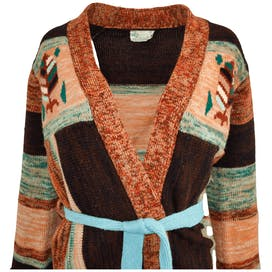 70's Brown, Orange and Blue Cardigan