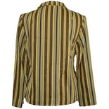 another view of 70's Brown and Yellow Striped Blazer