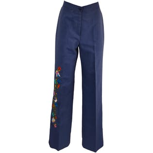 70's Flare Embroidered Pants by Lady Rossy