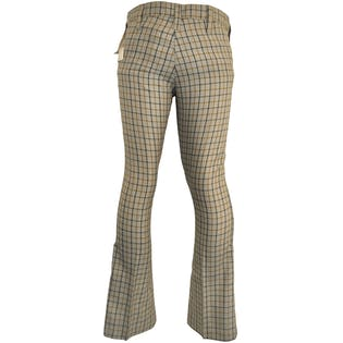 70's Gray Plaid Bell Bottoms