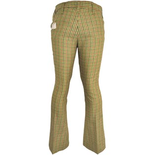 70's Green Plaid Bell Bottoms