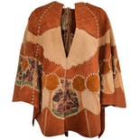 70's Hand Painted Stitch Cape by Char