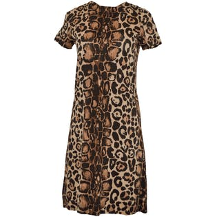 70's Leopard T-Shirt Dress by Anne Klein