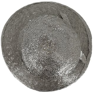 70's Metallic Silver Hat by Frank Cline