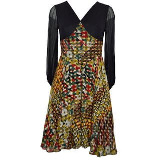 70's Multicolored Party Dress