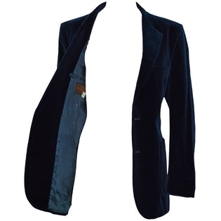 70's Navy Velvet Blazer by Yves Saint Laurent