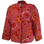 70's Pink Floral Quilted Jacket by Rhapsody by Glazier