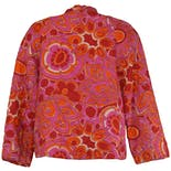 another view of 70's Pink Floral Quilted Jacket by Rhapsody by Glazier