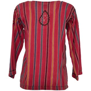 70's Pink Stripe Top