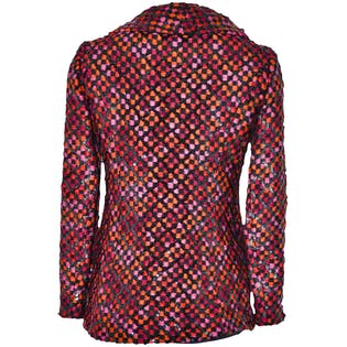 70's Pink and Black Sequin Blazer