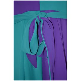 70's Purple and Teal Halter Dress