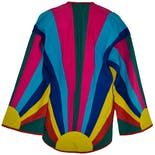 another view of 70's Rainbow Sun Jacket