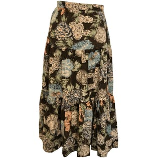 70's Floral Prairie Skirt by Focus