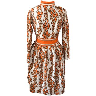 70's Geometric Print Dress by Bleeker Street
