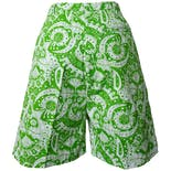 another view of 70's Lime Green Print Shorts by Grants