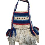 70's Macrame Fringe Beaded Purse