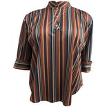 70's Multicolor Striped Blouse