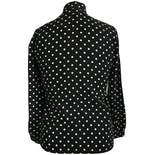 another view of 70's Polka Dot Blouse by Judy Bond