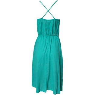 70's Turquoise Slip Dress by Oops California