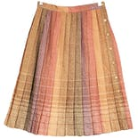 70's Wool Ombré Pleated Skirt by Impeccable