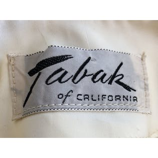 40's 50's Off White Sleeveless Beaded Tank Top by Tabak of California